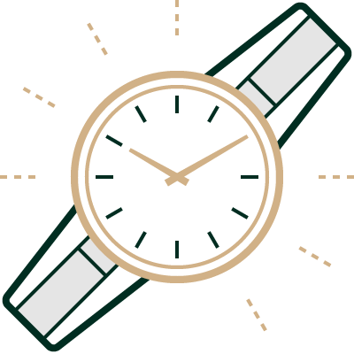 Horloge gerepareerd icoon